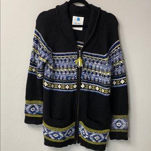 Anthropology Sparrow Nordic zip sweater Aztec. M